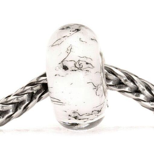 Beads Trollbeads in vetro idea regalo donna Acciaio Bianco TGLBE-10233