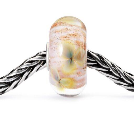 Beads Trollbeads in vetro idea regalo donna Fiori Selvatici TGLBE-10329