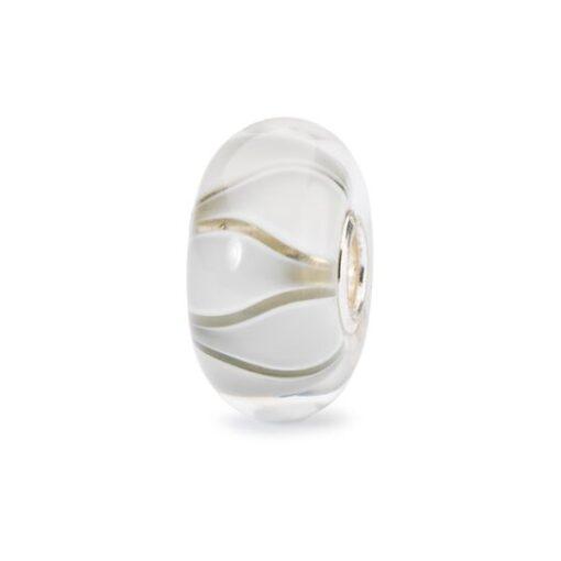 Trollbeads in vetro Beads Tulipani Bianchi TGLBE-10440 bracciale idea regalo donna