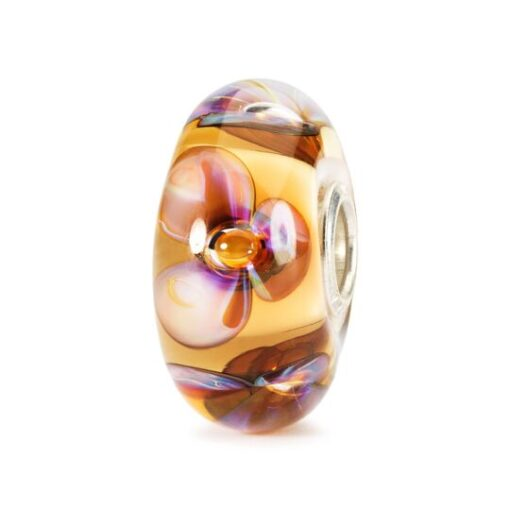Trollbeads in vetro Beads Violette Ambra TGLBE-10169 idea regalo donna