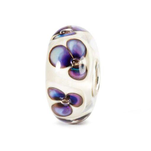 Trollbeads in vetro Beads Violette Avorio TGLBE-10168 idea regalo donna