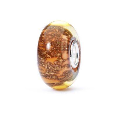 Trollbeads in vetro Beads Autunno d'Oro TGLBE-10414 bracciale idea regalo donna