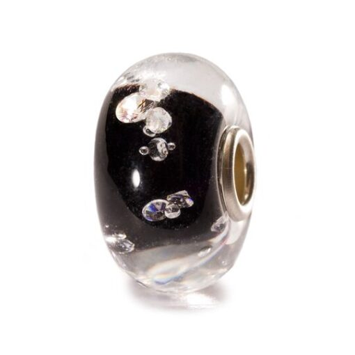 TGLBE-00070 Beads Trollbeads Beads Diamante Nero in vetro con zirconi