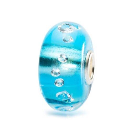 TGLBE-00040 Beads Trollbeads Beads Diamante di Ghiaccio in vetro con zirconi