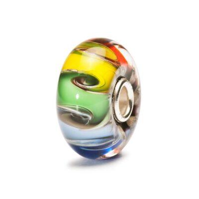 TGLBE-20003 Beads Trollbeads Chakra Arcobaleno in vetro
