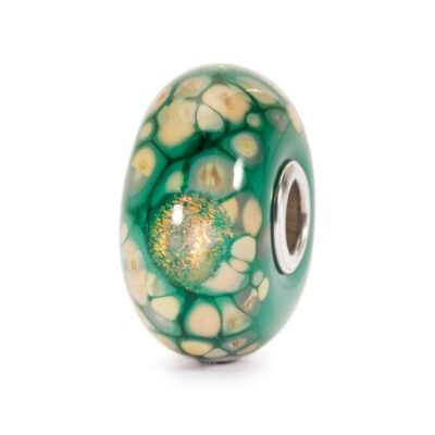 TGLBE-20056 Beads Trollbeads Mosaico di Fiori Verdi in vetro