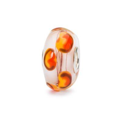TGLBE-10453 Beads Trollbeads Campo di Papaveri in vetro idea regalo donna