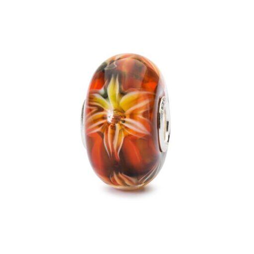 Trollbeads in vetro Beads Fiore della Passione TGLBE-10453 bracciale idea regalo donna