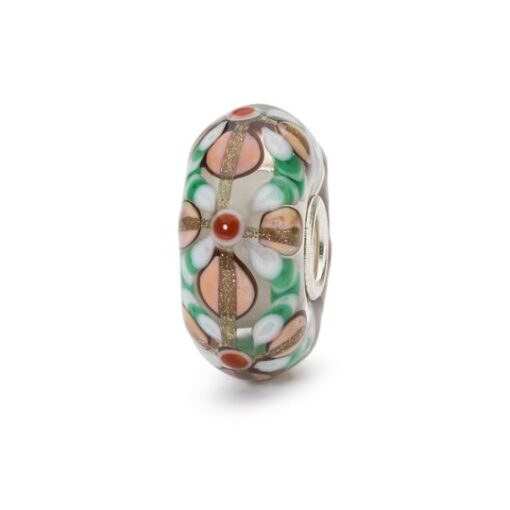 Trollbeads in vetro Beads Fiori Magici TGLBE-10428 bracciale idea regalo donna