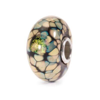 TGLBE-20054 Beads Trollbeads Mosaico di Fiori Neri in vetro