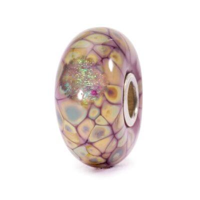 TGLBE-20054 Beads Trollbeads Mosaico di Fiori Viola in vetro