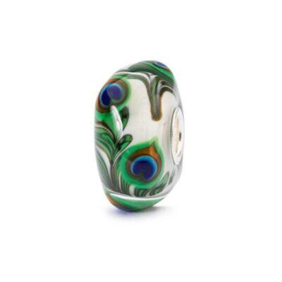 Trollbeads in vetro Beads Occhio di Pavone TGLBE-10420 bracciale idea regalo donna