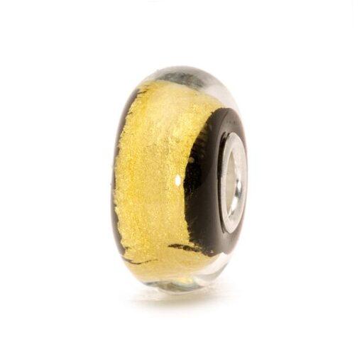 TGLBE-20050 Beads Trollbeads Oro Nero in vetro