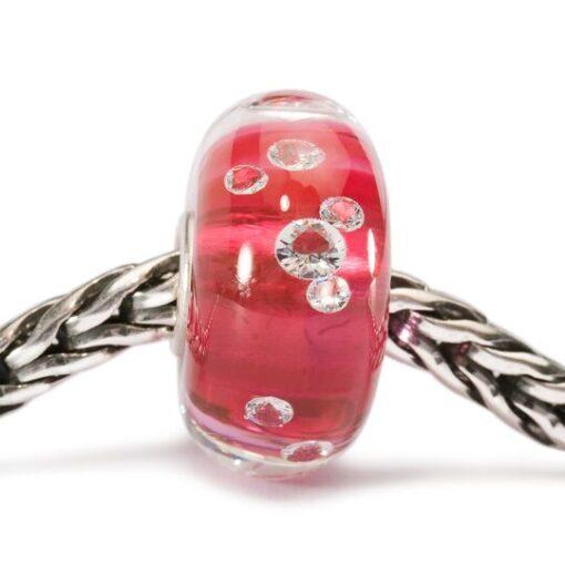 BeadsTGLBE-00017 Beads Diamante Rosa in vetro con zirconi