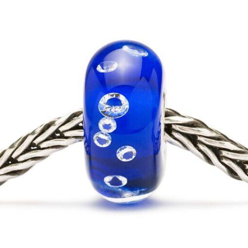 BeadsTGLBE-00027 Beads Diamante Blu in vetro con zirconi
