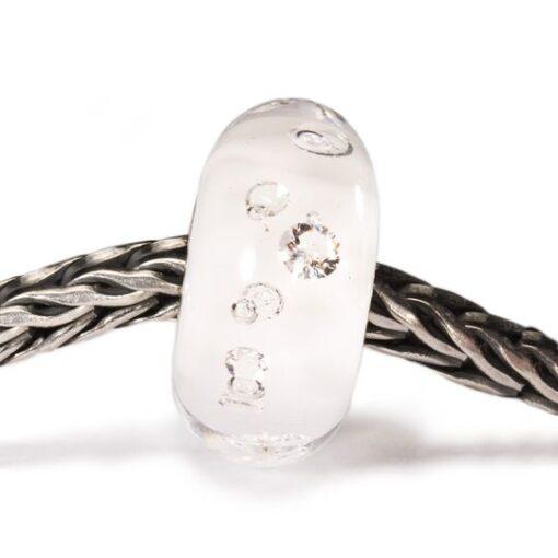 Beads TGLBE-00069 Beads Diamante Bianco in vetro con zirconi