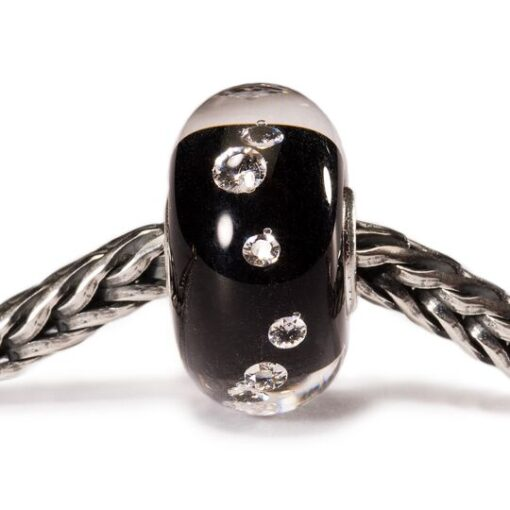 TrollBeads TGLBE-00070 Beads Diamante Nero in vetro con zirconi