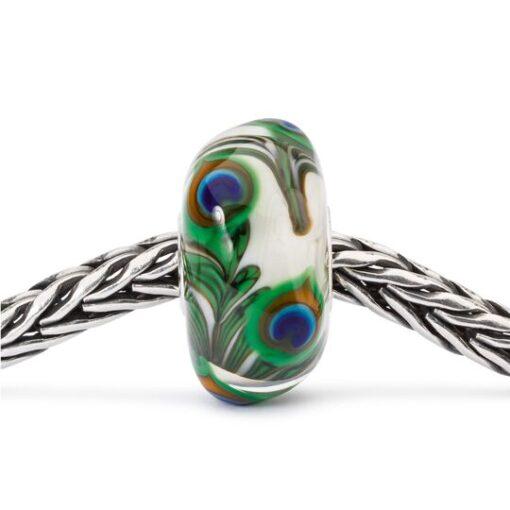 Beads Trollbeads in vetro idea regalo donna Occhio di Pavone TGLBE-10420
