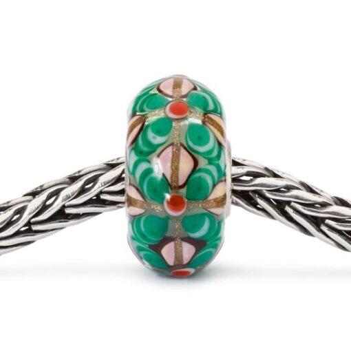 Beads Trollbeads in vetro idea regalo donna Fiori Magici TGLBE-10428