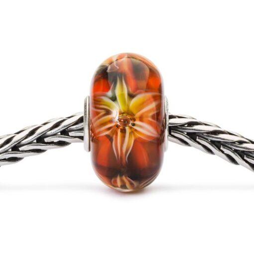 Beads Trollbeads in vetro idea regalo donna Fiore della Passione TGLBE-10453