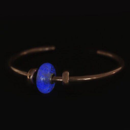 Beads Trollbeads Fluorescente Manto di Luce in vetro TGLBE-30028