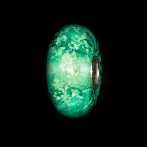 TGLBE-30029 Beads Trollbeads Luminoso Cuore dell'Oceano in vetro TGLBE-30029