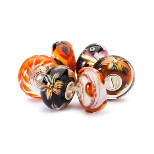 Beads Set in Vetro Crepuscolo d'Autunno TGLBE-00172