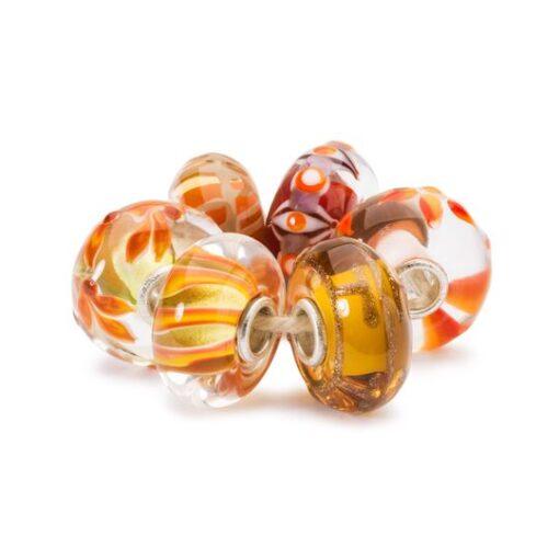 Set in Vetro Beads Trollbeads Sogni Dorati TGLBE-00173