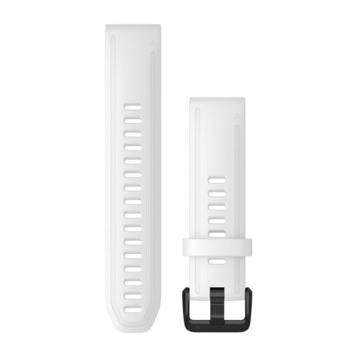 Cinturino per orologio Garmin QuickFit 20 mm Silicone Bianco 010-12865-00