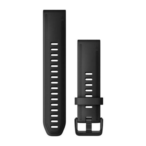 Cinturino orologio Garmin QuickFit 20 mm Silicone Nero Fenix 6s 010-12867-00
