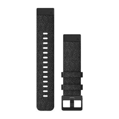 Garmin cinturino orologio QuickFit 20 mm in nylon nero Fenix 6s 010-12875-00