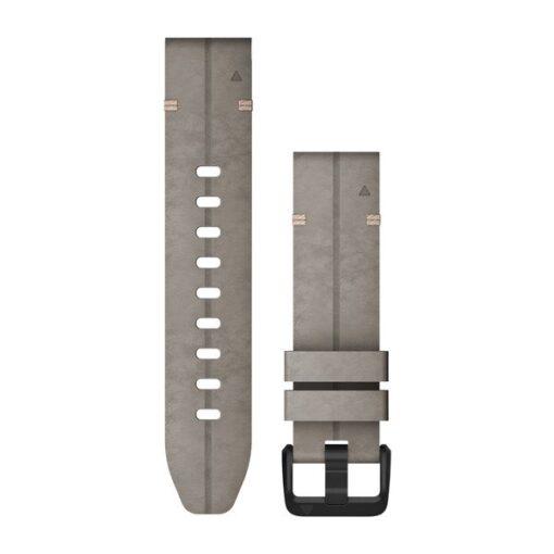 Garmin cinturino orologio QuickFit 20 mm pelle scamosciata grigia Fenix 6s 010-12876-00