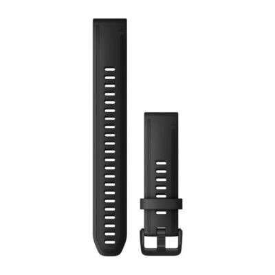 Cinturino Garmin QuickFit 20 mm silicone nero large Fenix 6s 010-12942-00