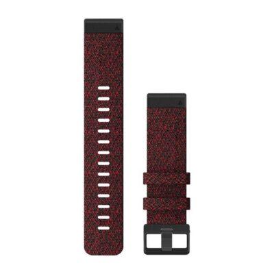 Cinturino Garmin QuickFit 22 mm nylon rosso melange Fenix 6 010-12863-06