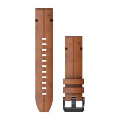 Garmin cinturino orologio QuickFit 22 mm pelle marrone Fenix 6 010-12863-05