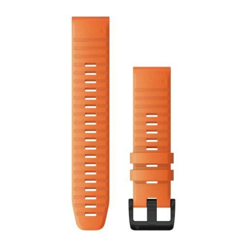 Cinturino Garmin QuickFit 22 mm silicone arancione Fenix 6 010-12863-01