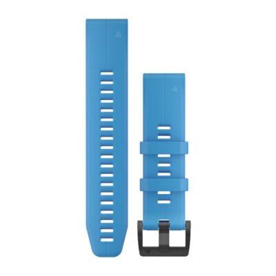 Cinturino Garmin QuickFit 22 mm silicone blu ciano 010-12740-03