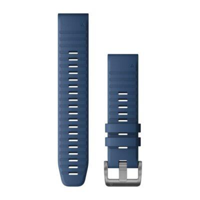 Garmin cinturino orologi QuickFit 22 mm silicone color blu Captain Quatix 6 010-12863-21
