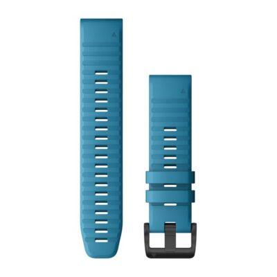 Garmin cinturino orologi QuickFit 22 mm silicone color blu cirro Fenix 6 010-12863-20