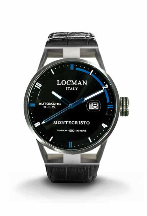 Orologio Locman Automatico Solo Tempo cassa acciaio e titanio cinturino pelle nera051100BKFBL0PSK