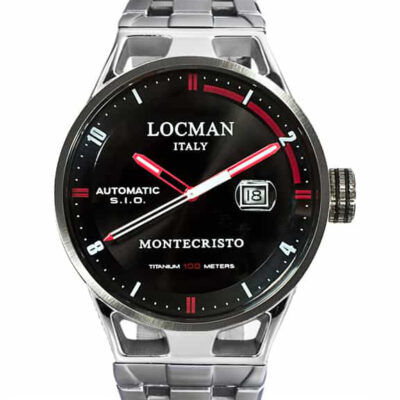Orologio Locman Automatico Solo Tempo cassa acciaio e titanio 051100BKFRD0BR0