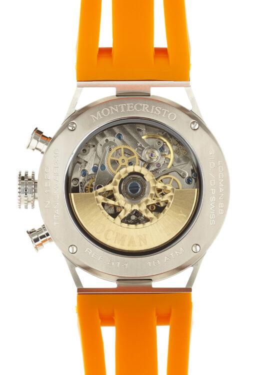 Orologio Locman Uomo Acciaio e titanio, cinturino silicone arancio 0514V04-00BKOSIO