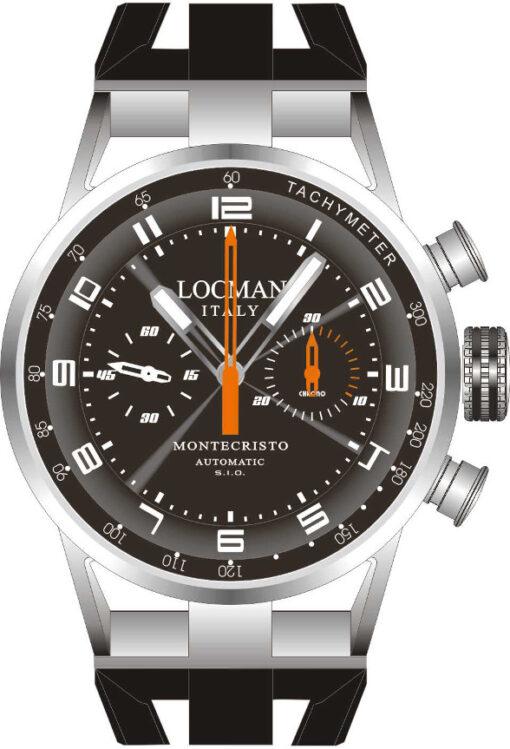 Orologio Locman Montecristo Cronografo Automatico con cinturino in silicone 0514V04-00BKOSIK