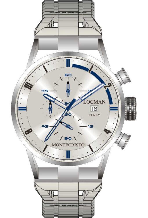 Orologio Locman Uomo Collezione Montecristo Crono in Acciaio-Titanio Grigio 051000AGFBL0BR0