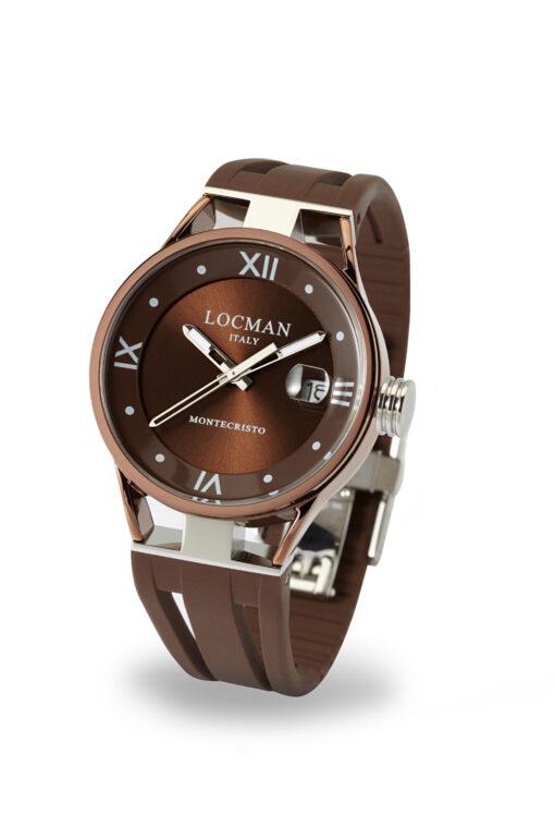 Locman orologio collezione Montecristo Solo Tempo Lady in silicone marrone 0520V07-BNBN00SN