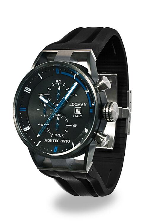 Locman cronografo Montecristo Acciaio e Titanio PVD 0510KNBKFBL0GOK
