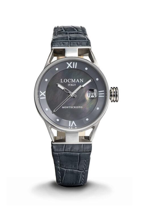 Orologio Locman donna Montecristo Lady Solo Tempo in acciaio e titanio con cinturino in pelle grigio -0521V01-00MK00PA