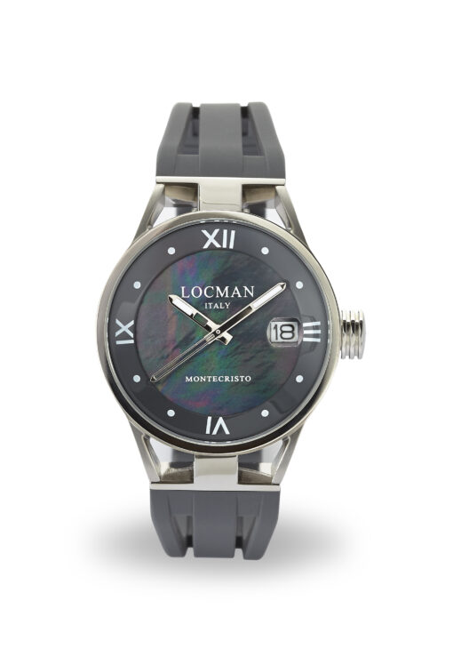 Orologio Donna Locman Montecristo Solo Tempo Lady in acciaio e titanio con cinturino in silicone grigio - 0520V01-00MK00SA