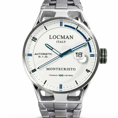 Orologio Locman Automatico Solo Tempo cassa acciaio e titanio 051100WHFBL0BR0