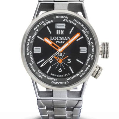 Locman Orologio Montecristo Dual Time in acciaio e Titanio - 0508A01S-00BKWHB0